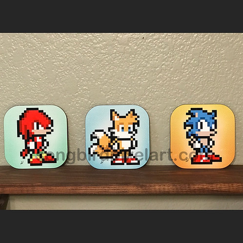 Knuckles, Tails, Sonic