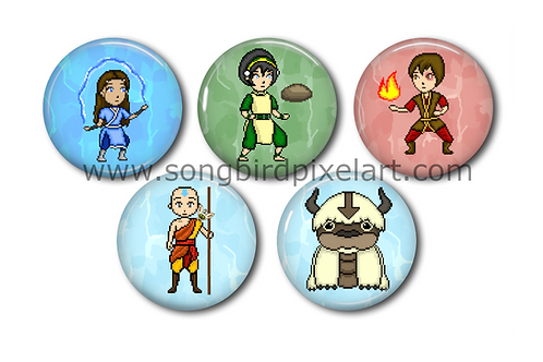 Avatar The Last Airbender Buttons