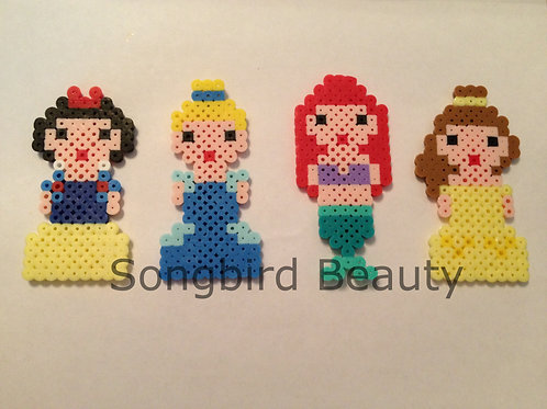 Disney Characters: Snow White, Cinderella, Ariel, Belle