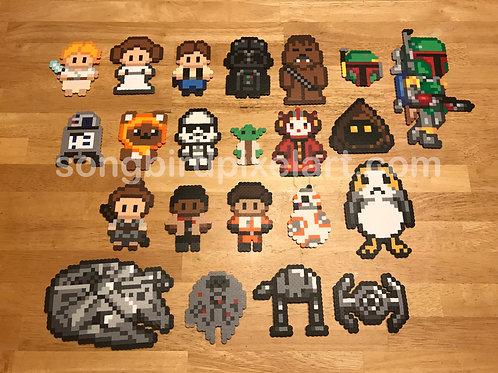 Star Wars- Luke Skywalker, Leia Organa, Han Solo R2D2, Yoda, Darth Vader
