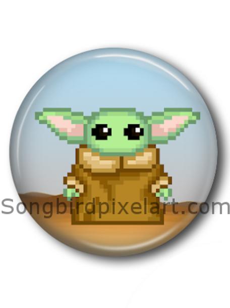 Baby Yoda Button