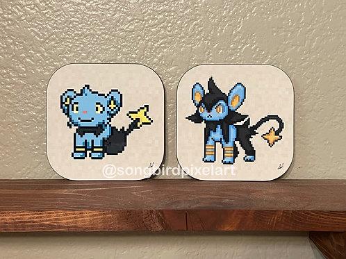 Shinx and Luxio Coasters