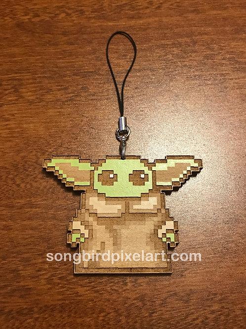Baby Yoda Wood Charm