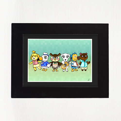 4x6 Animal Crossing Print