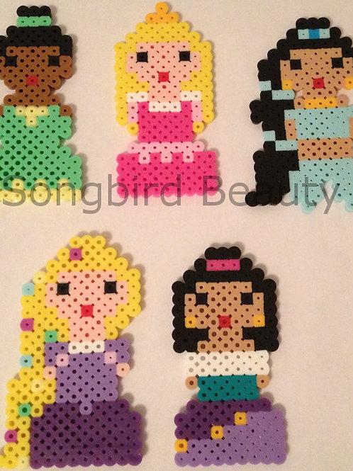 Disney: Tiana, Aurora, Jasmine, Rapunzel, Esmerelda