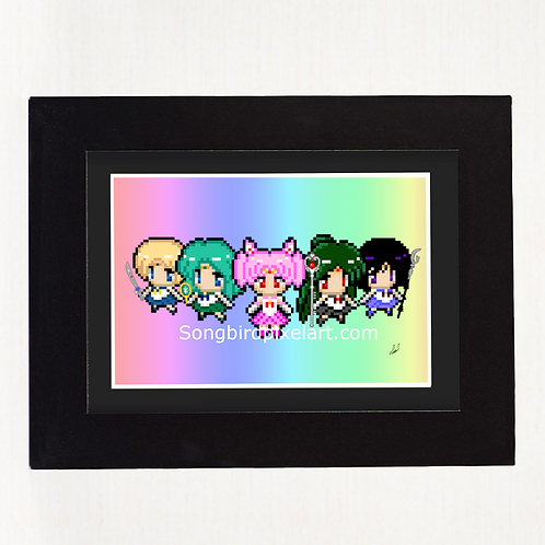 4x6 Outer Senshi Print