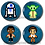 Thumbnail: Star Wars- Luke, Leia, Han, Darth Vader, Kylo Ren, Rey, Boba Fett, Porg, BB8, R2