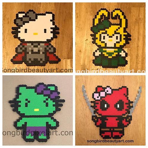 Marvel: Hello Kitty Thor, Loki, Hulk, Deadpool