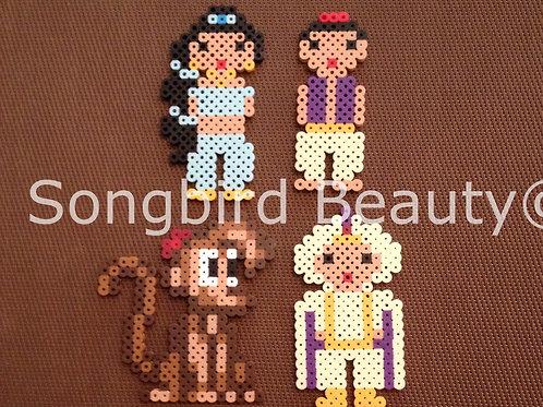Disney: Jasmine, Aladdin, Abu, Prince Ali