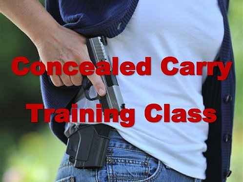 Concealed Carry Training - Thursday, January 14, 2021, 10-6:30 PM