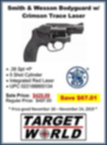 Smith & Wesson Bodyguard with Crimson Tr