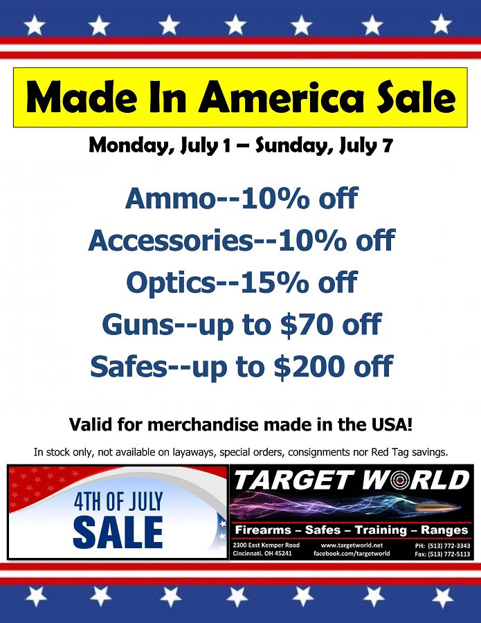 Made In America Sale July 1-7, 2019 (900