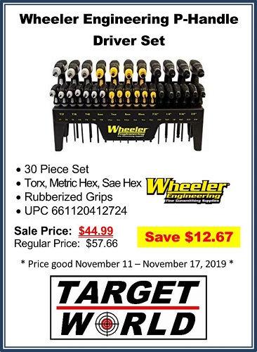 Wheeler Engineering P-Handle Driver Set