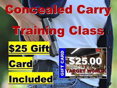 Concealed Carry Training - Monday, November 16, 2020, 10-6:30 PM