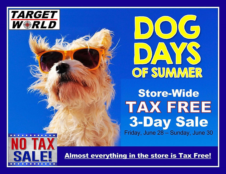 Tax-Free Weekend Sale June 28-30, 2019 (