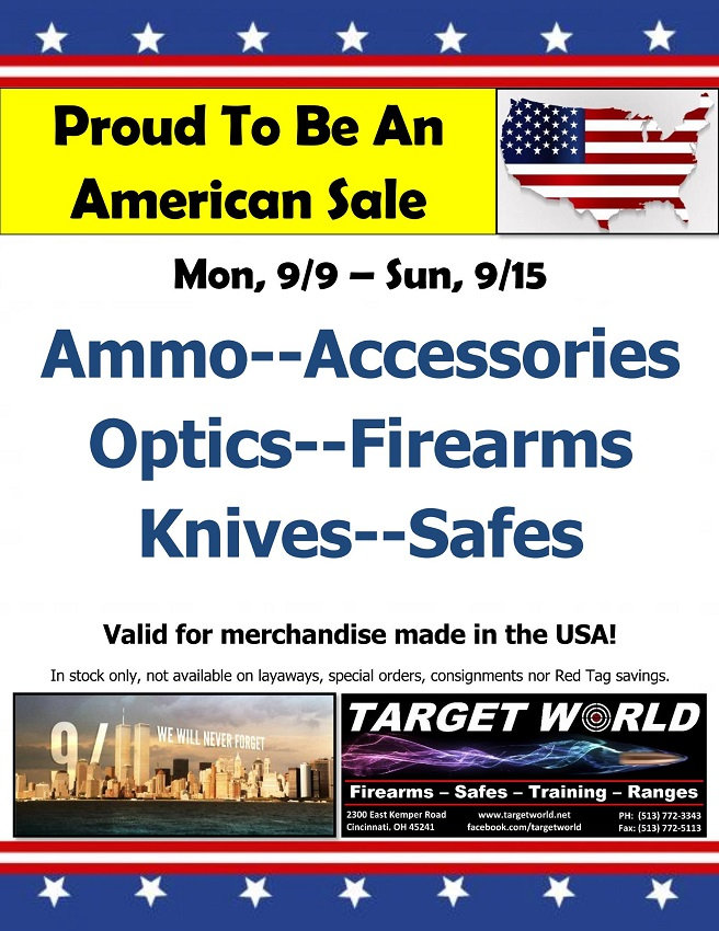 Proud to be an American Sale September 9