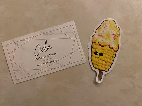 Cute Elote Sticker, Mexican Street Corn