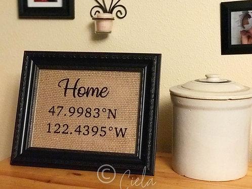 Framed Home Coordinates