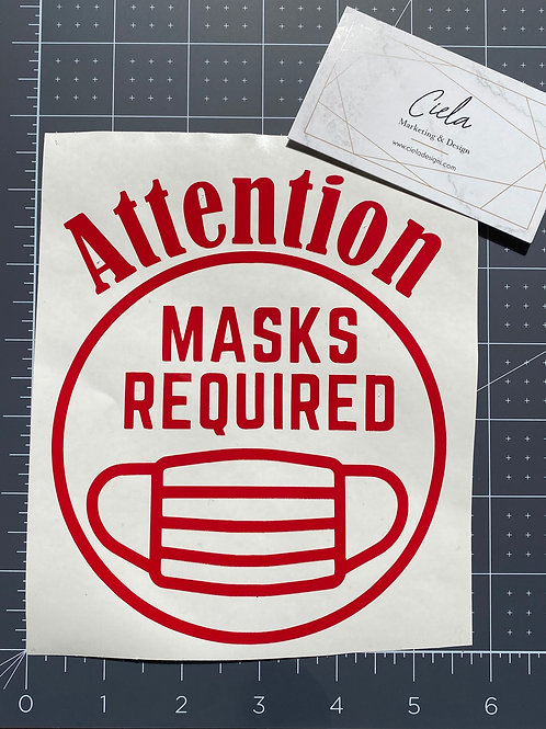 Mask Up Decal