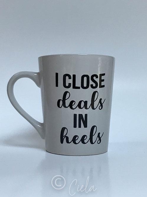 Deals in Heels Mug