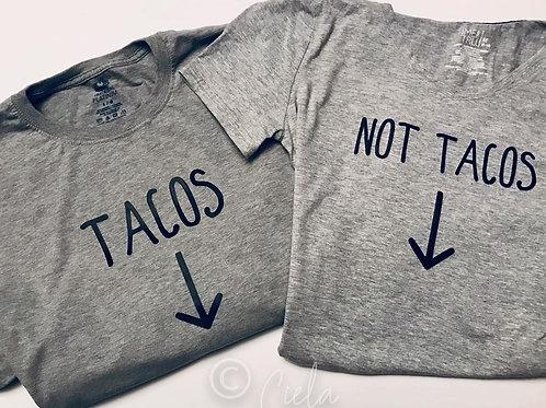 Mom & Dad Pregnancy Shirts- Tacos