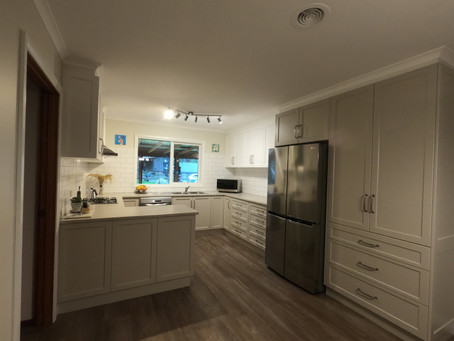 Two tone cabinetry - kitchen renovation