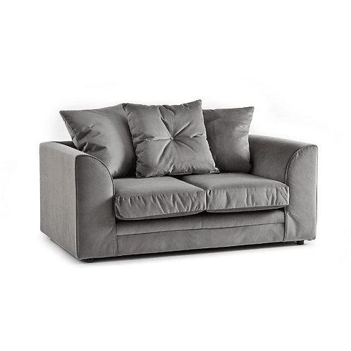 Rockford Grey Plush Velvet 2 Seater Sofa