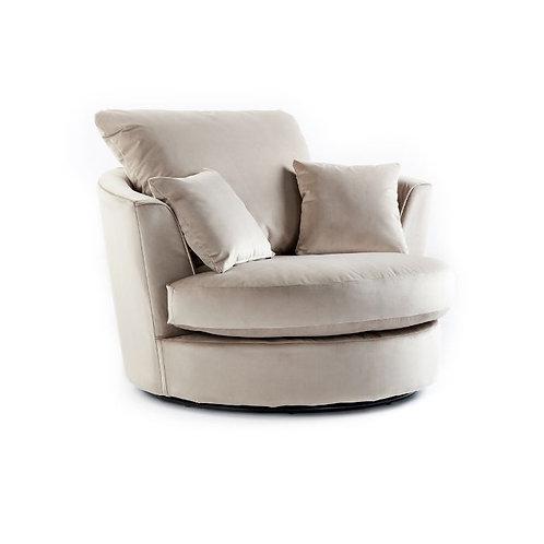 Rockford Mink Plush Velvet Swivel chair