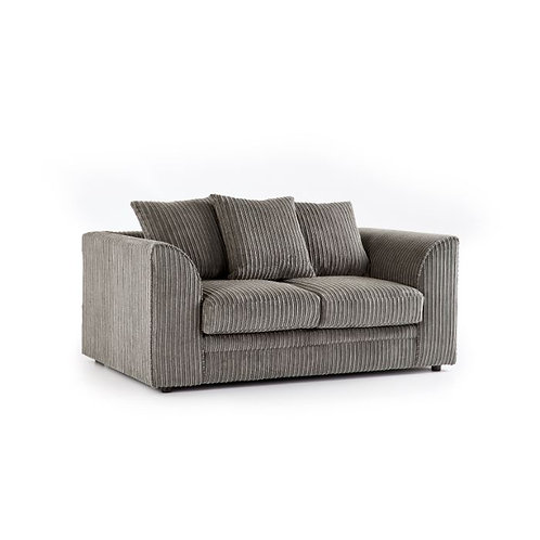 Chicago 2 Seater Grey Jumbo Cord Sofa