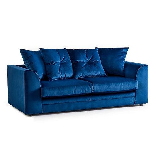 Rockford Indigo Plush Velvet 3 Seater Sofa