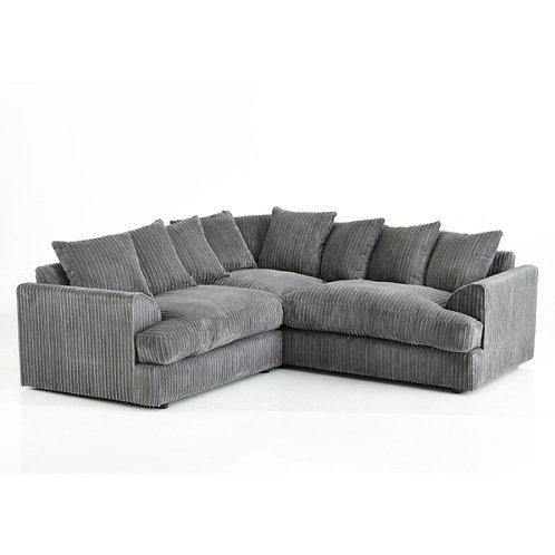 Ferguson Symmetrical Grey Jumbo Cord Corner Sofa