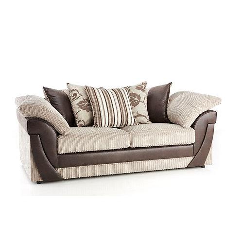 Lush 3 Seater Mink Jumbo Cord  Sofa