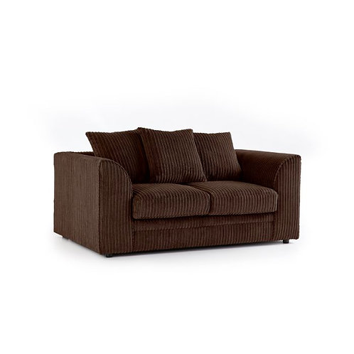 Chicago 2 Seater Brown Jumbo Cord Sofa