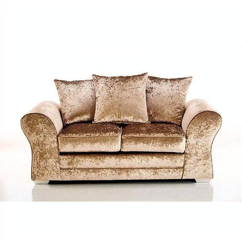 Jupiter 2 Seater Mink Crushed Velvet Sofa