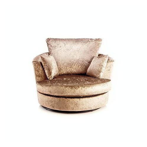 Michigan Mink Crushed Velvet Swivel Chair