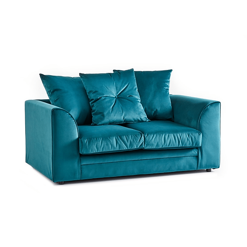 Rockford Teal Plush Velvet 2 Seater Sofa