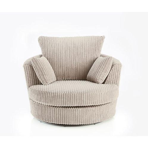 Chicago Cream Jumbo Cord Swivel Chair