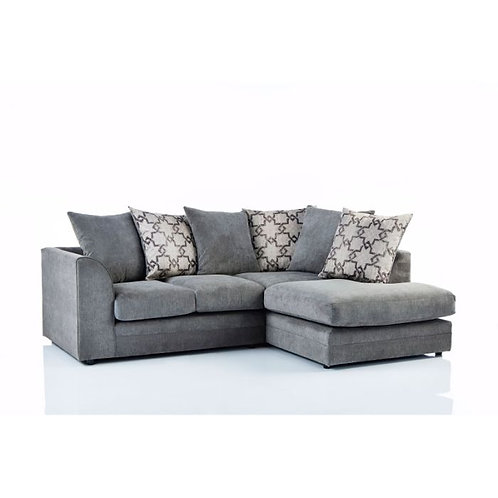 Maryland Right Hand Grey Corner Sofa