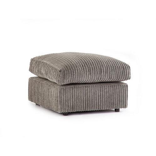 Grey Jumbo cord Footstool