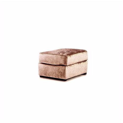 Mink Crushed Velvet Footstool