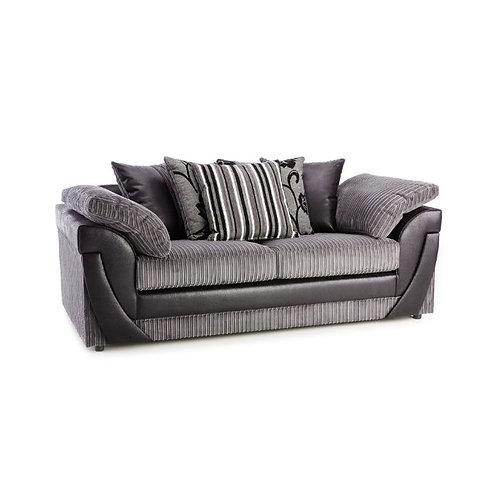 Lush 3 Seater Grey Jumbo Cord  Sofa