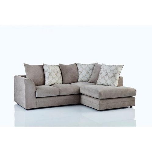 Maryland Right Hand Beige Corner Sofa