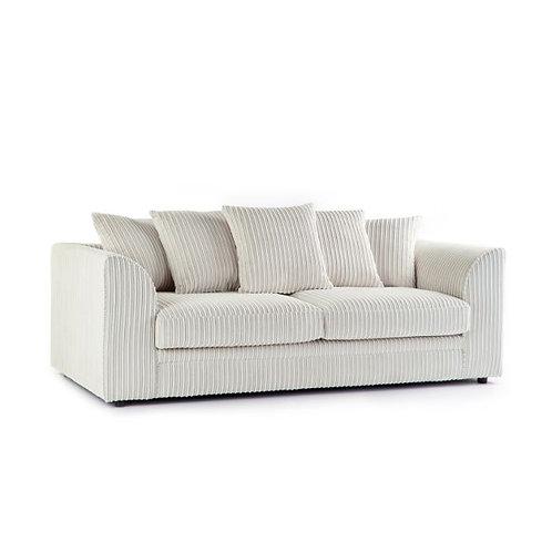 chicago 3 seater cream jumbo cord sofa