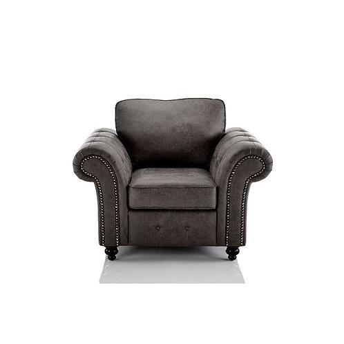 Oakland 1 Seater Black Faux Leather Sofa