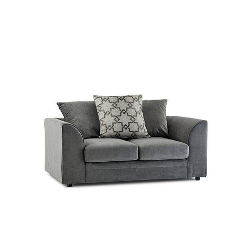 Maryland 2 Seater Grey Sofa Side View