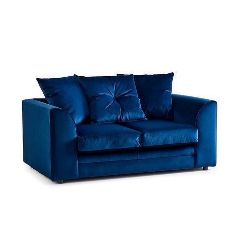 Rockford Indigo Plush Velvet 2 Seater Sofa