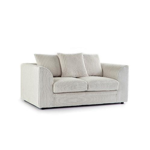 Chicago 2 Seater Cream Jumbo Cord Sofa