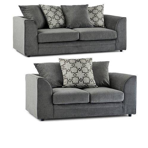 Maryland 3+2 Grey Sofa