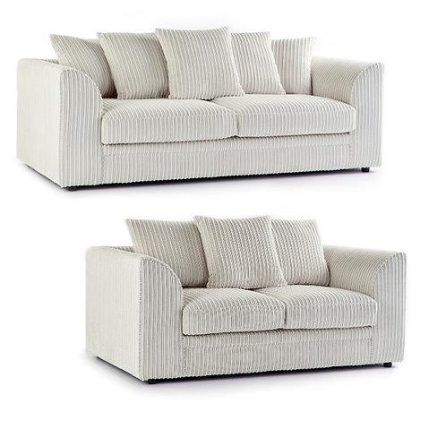 Chicago 3+2 Cream Jumbo Cord Sofa