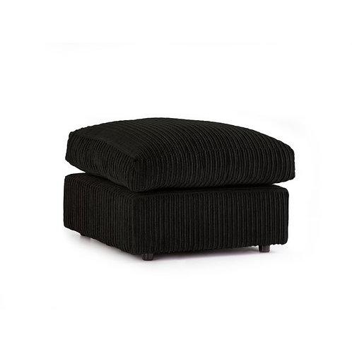 Black Jumbo Cord Footstool